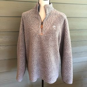 Southern Shirt Company Sherpa Gray Pullover Fleece